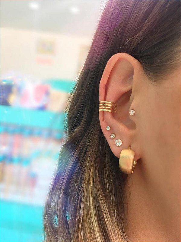 Piercing Fake dourado quatro fios