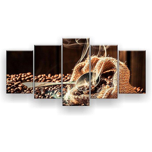 Quadro Decorativo Aroma Do Café 129x61 5pc Sala