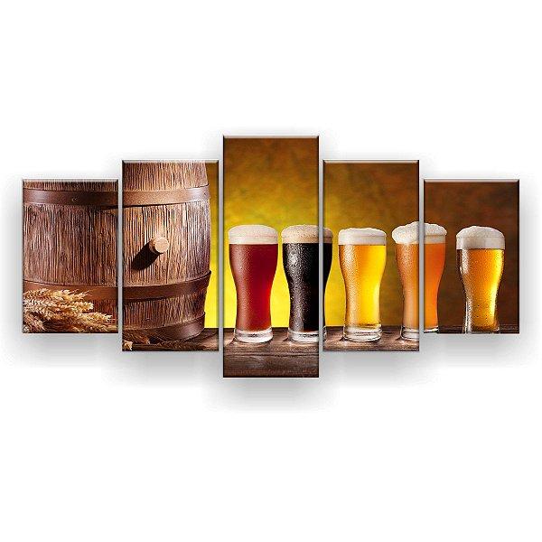 Quadro Decorativo Barril Cerveja Chopp 129x61 5pc Sala