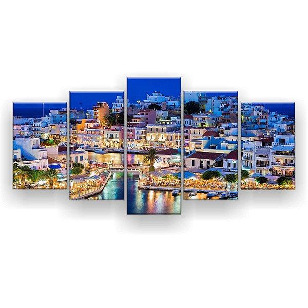 Quadro Decorativo Creta Grécia 129x61 5pc Sala