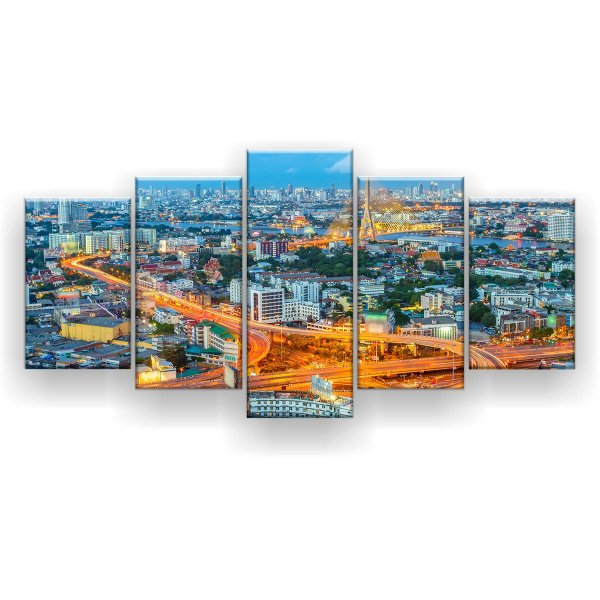 Quadro Decorativo Banguecoque Tailândia 129x61 5pc Sala