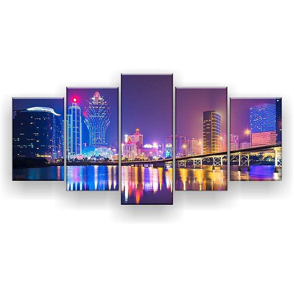 Quadro Decorativo Macau China 129x61 5pc Sala