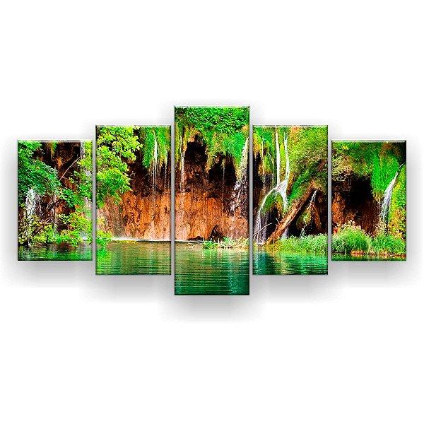 Quadro Decorativo Natureza Bela 129x61 5pc Sala