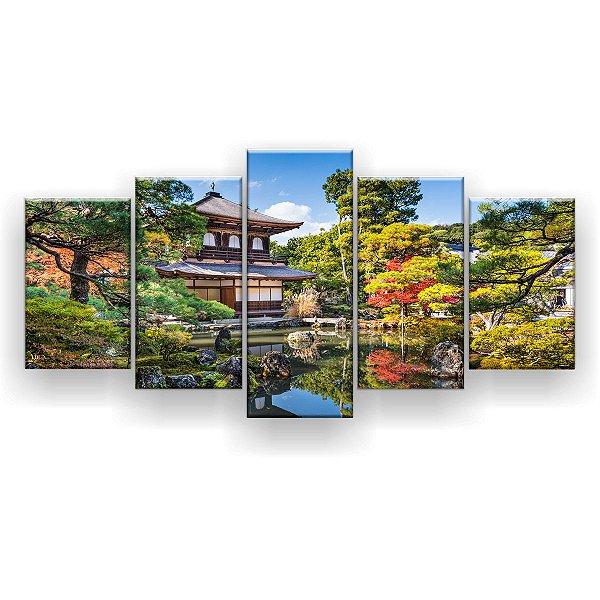Quadro Decorativo Kyoto No Ginkakuji 129x61 5pc Sala