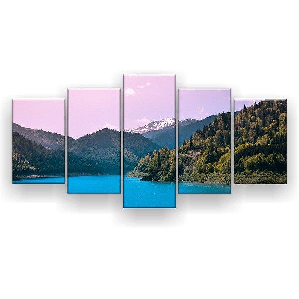 Quadro Decorativo Montanhas Parque Nacional 129x61 5pc Sala