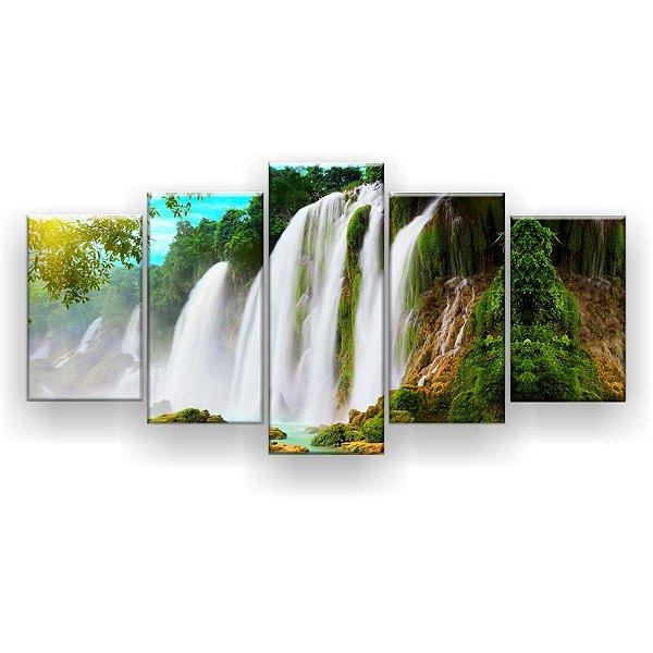 Quadro Decorativo Cachoeira Detian 129x61 5pc Sala