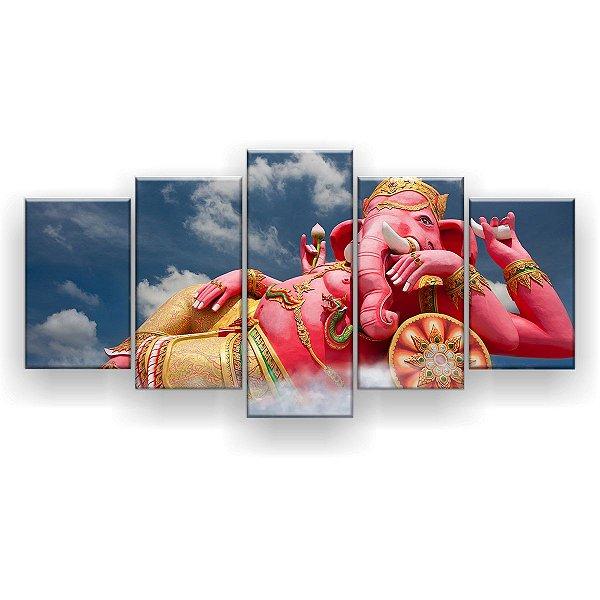Quadro Decorativo Ganesha Rosa 129x61 5pc Sala