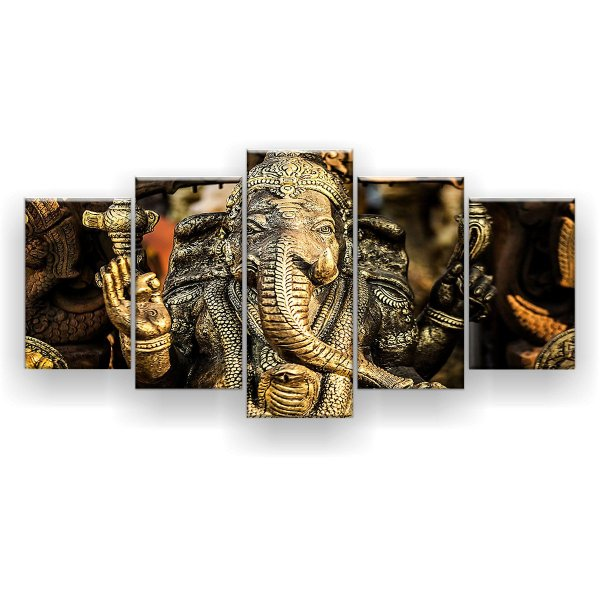 Quadro Decorativo Hindu Ganesha 129x61 5pc Sala