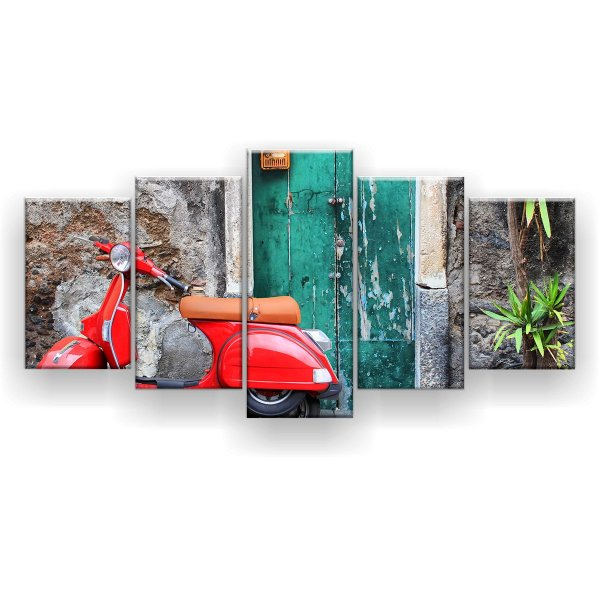 Quadro Decorativo Moto 129x61 5pc Sala