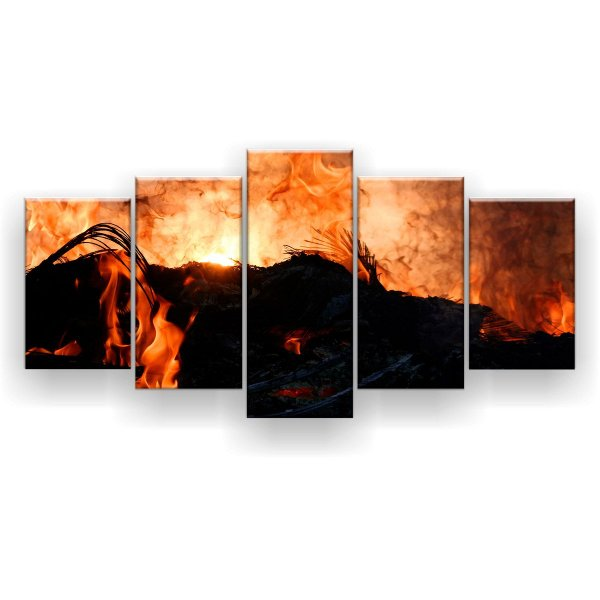 Quadro Decorativo Inferno 129x61 5pc Sala