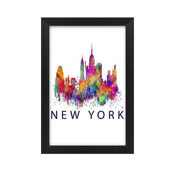 Quadro Decorativo New York 33x22 Sala Quarto