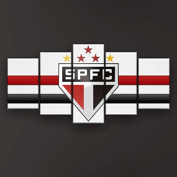 2cc33025af Quadro Decorativo São Paulo Futebol Clube 129x61 5pc Sala - Quadros ...