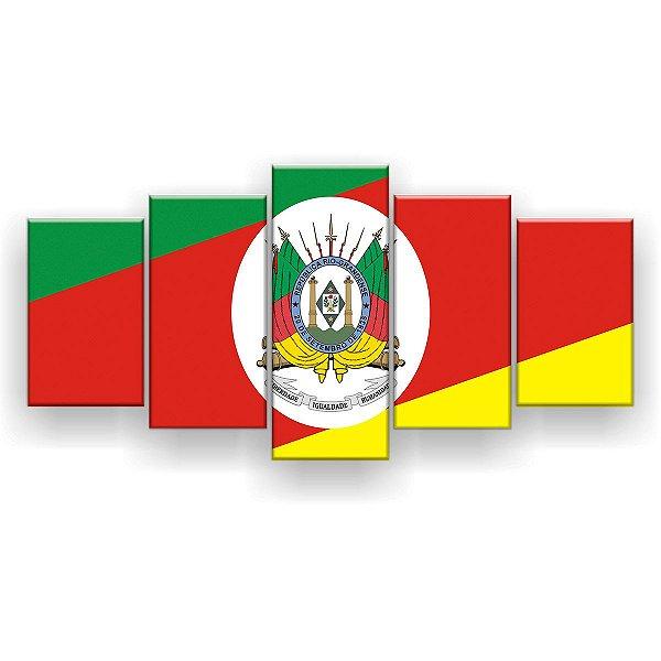 Quadro Decorativo Bandeira Do Rio Grande Do Sul 129x61 5pc Sala
