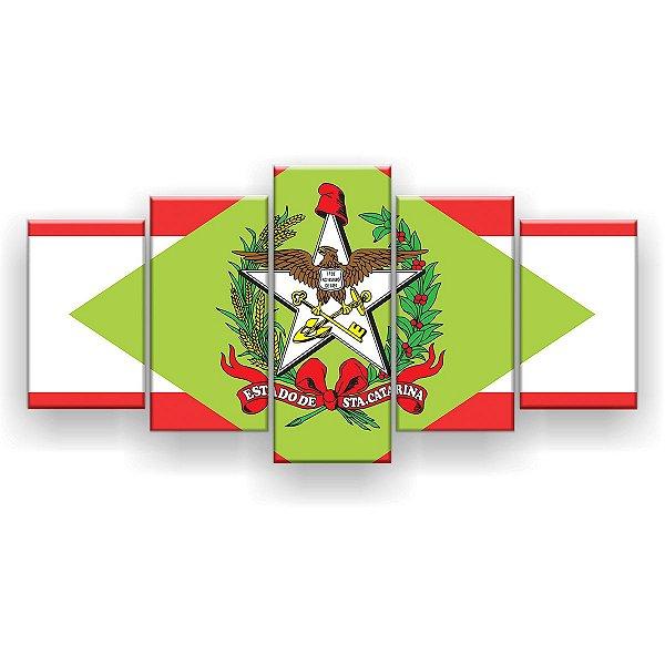Quadro Decorativo Bandeira De Santa Catarina 129x61 5pc Sala