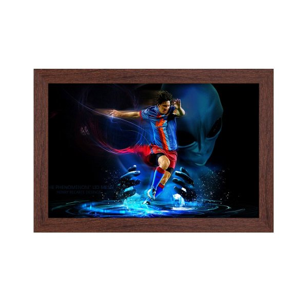 Quadro Decorativo Messi Extraterrestre 33x22 Sala Quarto
