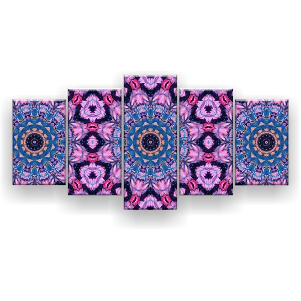 Quadro Decorativo Mandala De Tie Dye 129x61 5pc Sala