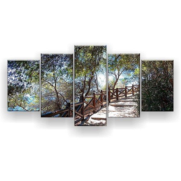 Quadro Decorativo Trilha Vista Maravilhosa 129x61 5pc Sala