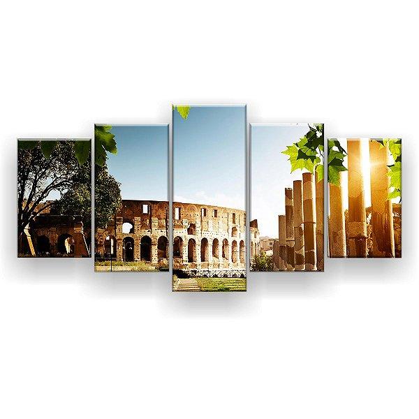 Quadro Decorativo Coliseu 129x61 5pc Sala