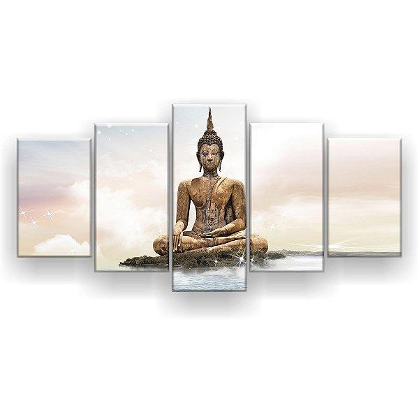 Quadro Decorativo Buda Nuvens 129x61 5pc Sala