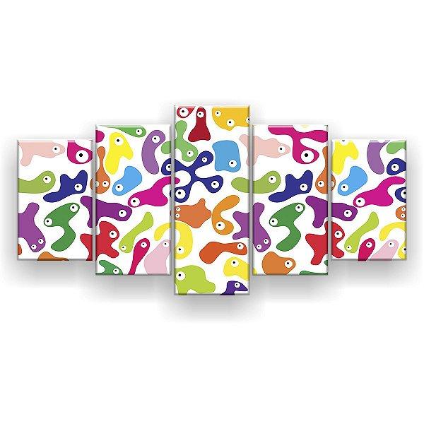 Quadro Decorativo Gelecas 129x61 5pc Sala