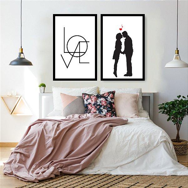 Quadro Decorativo Casal Love 76x57 Sala Quarto