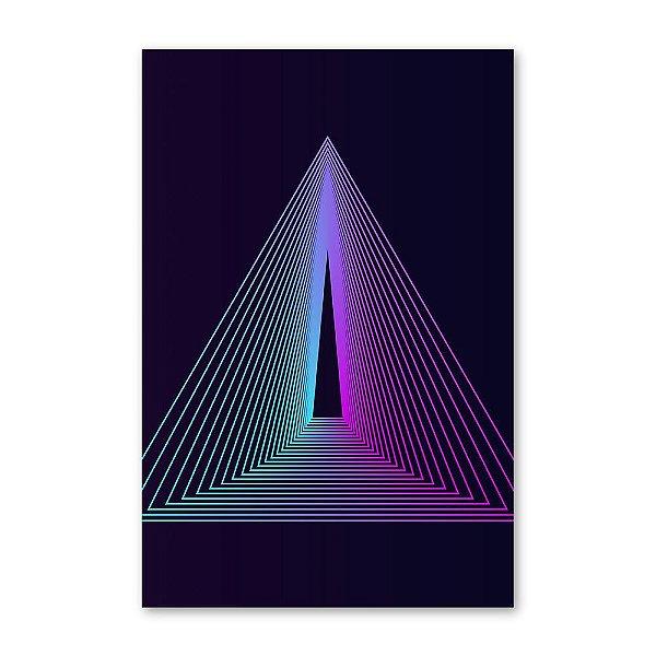 Quadro Decorativo Triângulo Roxo 20x30
