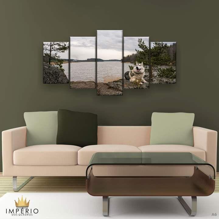 Quadro Decorativo Husky Natureza  129x61