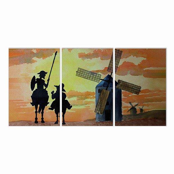 Quadro Decorativo Dom Quixote 2  124x60 3pc