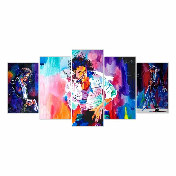 Quadro Decorativo Michael Jackson 129x61 5pc