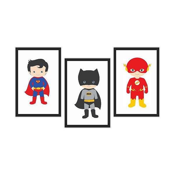 Quadro Decorativo DC Comics Kids 3P 115x57
