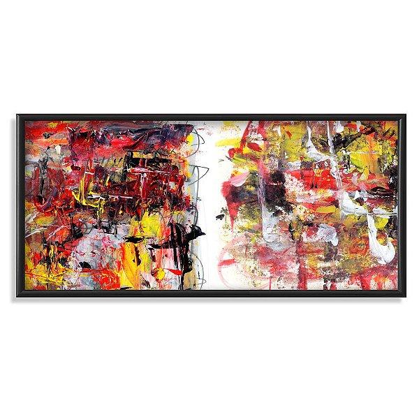 Quadro Decorativo Pintura Abstrata Aleatória