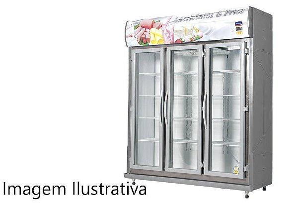 Expositor Refrigerado Auto Serviço com 3 Portas - Klima - 220v