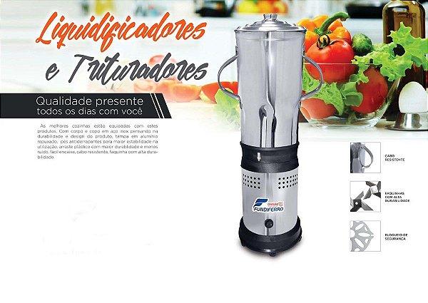 Liquidificador Industrial Fundiferro FL009 Alta Rotação 4 Lts 22000 rpm 220v