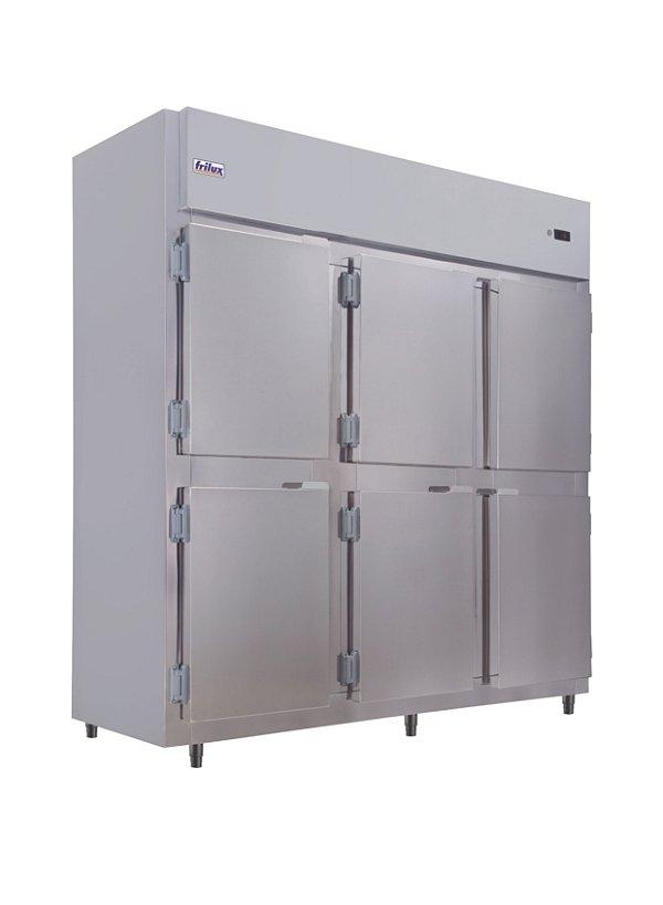 Geladeira mini camara fria comercial plus 6 portas cegas 1050lts