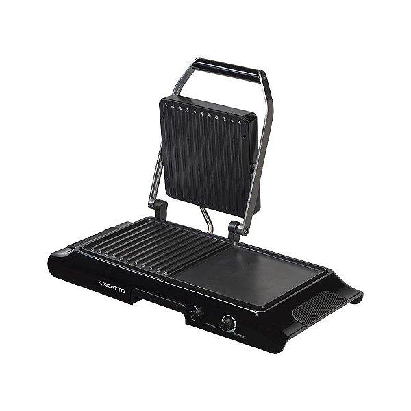 Duo grill eletrico mr cheff com prensa