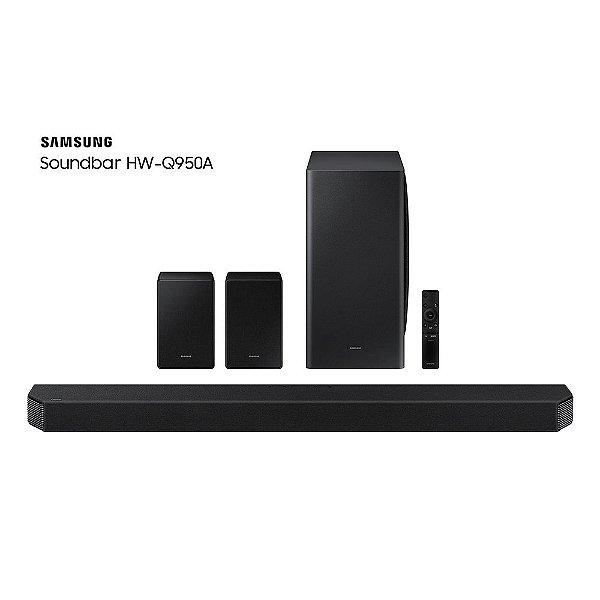 Soundbar Samsung com 11.1.4 canais, Dolby Atmos, Acoustic Beam, Sincronia Sonora e Alexa integrado, HW-Q950A/ZD, Bivolt Preto