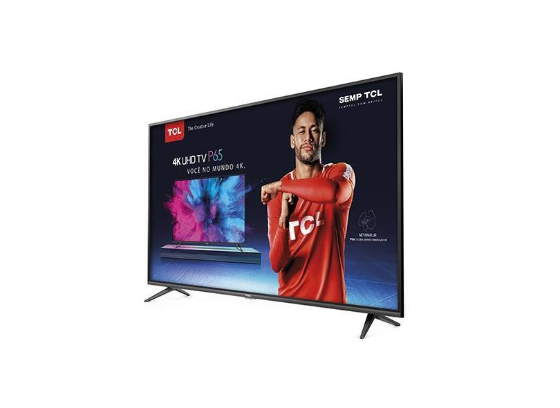 """Smart TV TCL 65"""" LED 4K UHD 55P8M, Android TV, Wi-Fi, Bluetooth e Controle com Comando de Voz"""