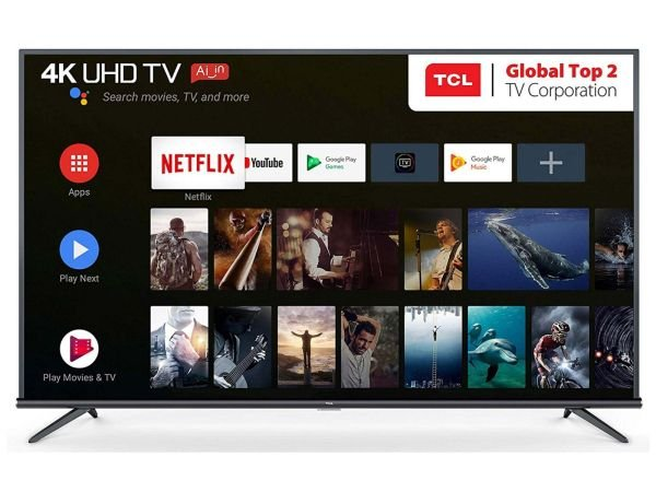 """Smart TV TCL 55"""" LED 4K UHD 55P8M, Android TV, Wi-Fi, Bluetooth e Controle com Comando de Voz"""