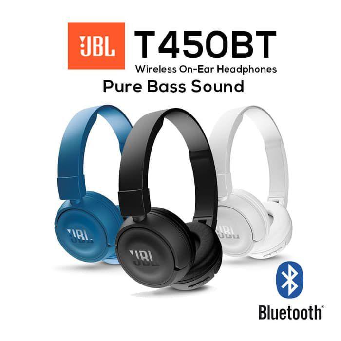 Fone De Ouvido Jbl T450bt Sem Fio Preto Bluetooth Original