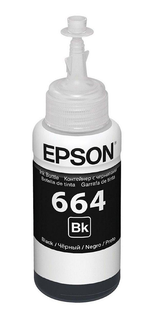 REFIL DE TINTA EPSON T664120 PRETO 70ML