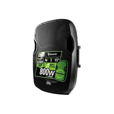 Caixa Amplificada Novik PRO BASS ELEVATE, 800W, Bluetooth, 3 Canais, USB, SD Card, Entrada Para Microfone.
