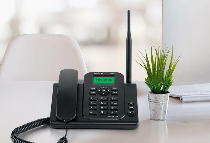 Telefone Celular Fixo Intelbras CF4202N 2G GSM, Dual Chip Preto