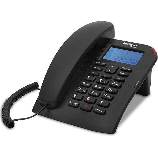 Telefone com Fio Intelbras com Identificador de Chamadas Preto - TC 60 id