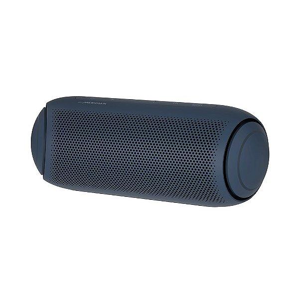 Caixa de Som Portátil LG Xboom Go PL7 Meridian, Bluetooth, Surround, 24 Horas Bateria, IPX5, Comando de Voz, 30W Azul
