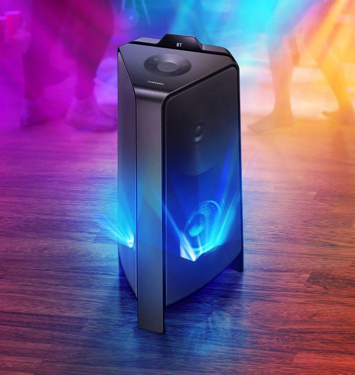 Sound Tower Samsung MX-T55, Potência de 500W e Som Bi-Direcional Preto