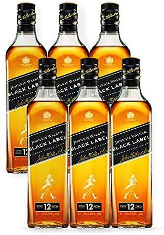 COMBO WHISKY JOHNNIE WALKER BLACK LABEL 1L - 6 UNIDADES