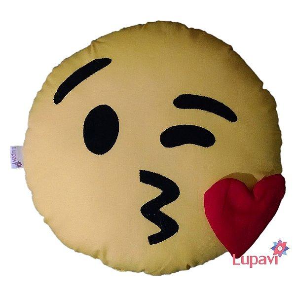 Almofada Emoji Beijo