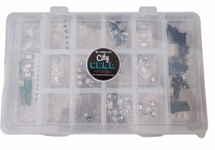 KIT 150 CONECTOR CARGA + BOX ORGANIZADOR