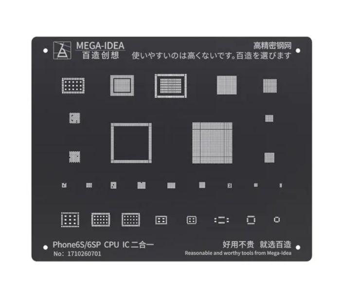 Stencil Reballing bga Samsung Black Stencil iphone 6s 6s Plus