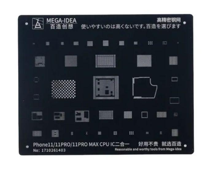 Stencil Reballing bga Black Stencil iphone 11 11 Pro 11 Pro Max CPU IC